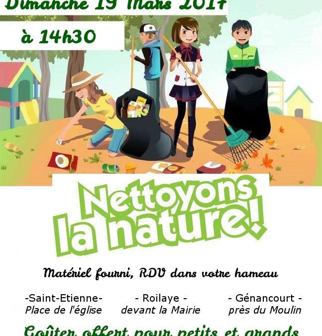Nettoyons la nature 19 mars 2017