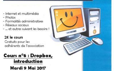 Prochain atelier informatique : mardi 9 mai à 18 h